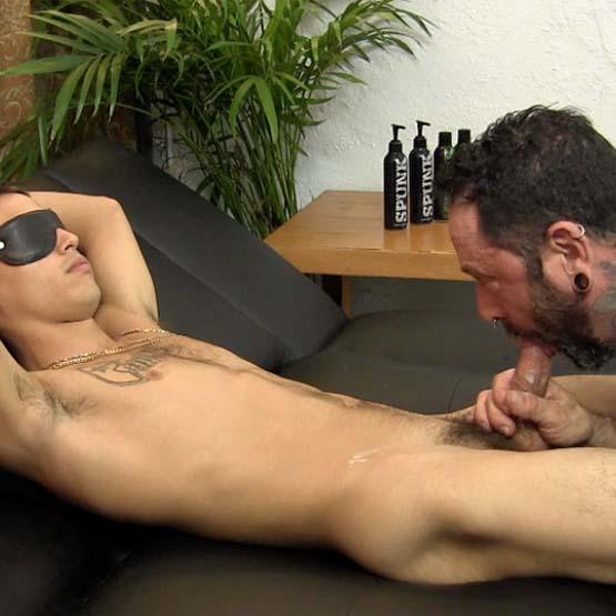 Blindfolded Straight Guy Sucked